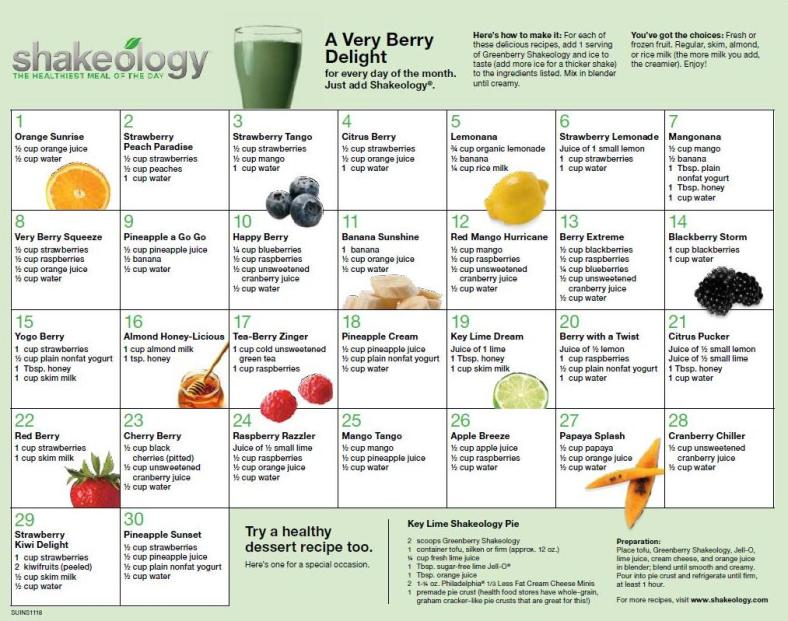 greenberry-shakeology-recipes
